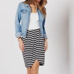 Dynamite striped skirt